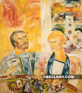 John Bellany: Bonjour Mr Bowie (1240) 1988, Oil on canvas © John Bellany / Courtesy of the Frank Cohen Collection Photography David Peters